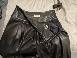 Twin set Leather Trousers black leather