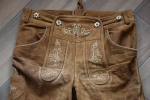 Der Wildschütz Traditional Trousers light brown leather