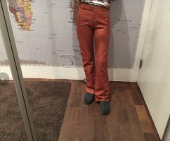 Gipsy Leather Trousers cognac-coloured leather