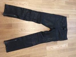 Allsaints Pantalon en cuir noir cuir