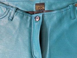 Plein sud Pantalone in pelle multicolore Pelle