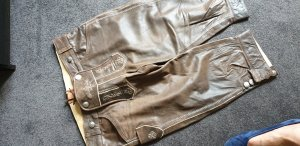 Traditional Trousers bronze-colored leather