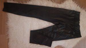 Amisu Pantalon en cuir noir