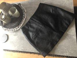 H&M Divided Jupe en cuir noir