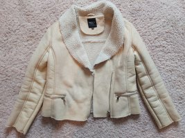 Barneys Originals Veste en cuir beige clair