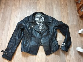 Arma Women Leather Jacket black leather