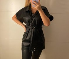 0039 Italy Blazer de cuero negro
