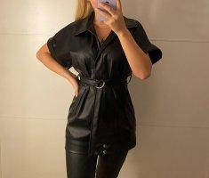 0039 Italy Leather Blazer black