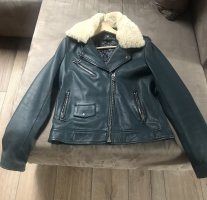Goosecraft Leather Jacket petrol