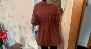 NA-KD Leather Shirt bright red
