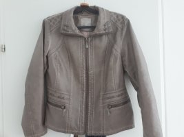 Boysen's Leather Jacket grey brown
