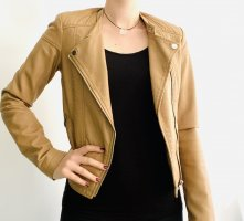 C&A Clockhouse Leather Jacket camel