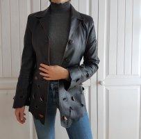 Lederjacke Echtleder Leder True Vintage Jacke Leder Mantel Mantel Schwarz Bikerjacke Biker