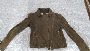 Gms-75 Leather Jacket green grey-khaki