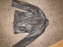 Chares vögele Leather Jacket dark blue-black