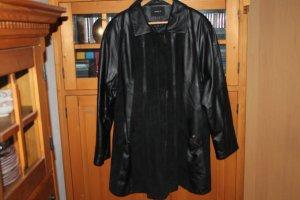 Lederjacke Größe 48, schwarz, glattes Leder und Wildleder