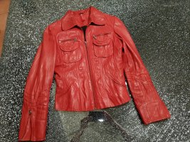 H.I.S Leather Jacket brick red leather