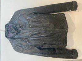 Lederjacke schwarz, Größe Small locker oder Größe Medium eng, Used Look