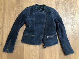 Lederjacke Velours Bilerstil