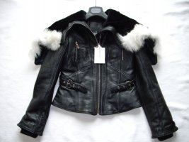 Alexander McQueen Skórzana kurtka czarny Skóra