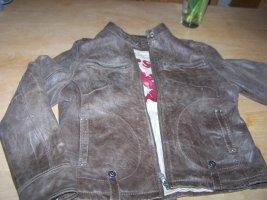 Gipsy Veste en cuir brun