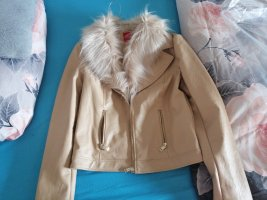 Guess Giacca in pelle crema