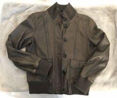 Marc O'Polo Veste en cuir gris brun cuir