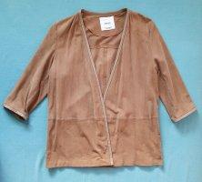 Mango Skórzana kurtka brązowy Skóra