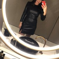 Fashion Union Leren jurk zwart Imitatie leer