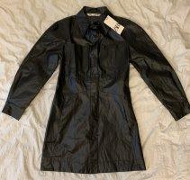 Zara Robe en cuir noir