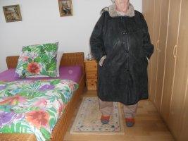 Futrzany płaszcz antracyt-camel Futro