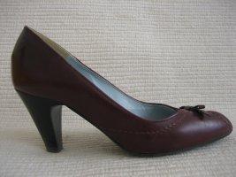 lederpumps gr. 38 burgund peep toes business