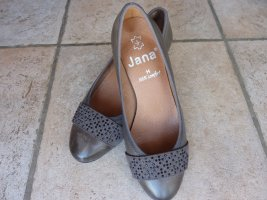 Jana Mary Jane pumps donkergrijs-taupe Leer