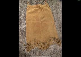 meine grösse Skórzana spódnica jasnobrązowy