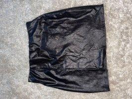 Boohoo Leather Skirt black