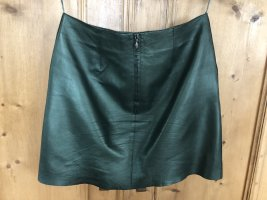 Hallhuber Leather Skirt forest green leather