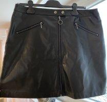 Lederrock in schwarz