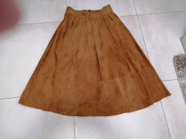 Leather Skirt light brown leather