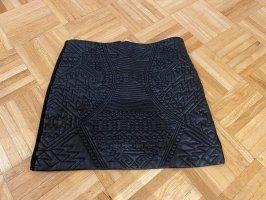 Lederrock mit Muster Mini 34