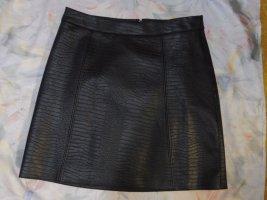 Orsay Jupe en cuir synthétique noir tissu mixte