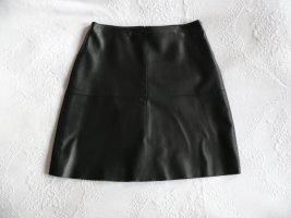 Weekend Max Mara Falda de cuero negro Cuero