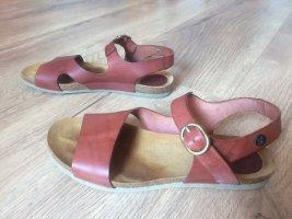 Comfortabele sandalen roodbruin Leer