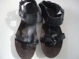 Toe-Post sandals black-light brown leather