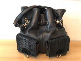 Tuva&Linn Shopper black-gold-colored leather
