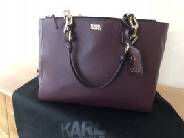 Karl Lagerfeld Shopper bordeau cuir