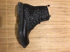 Korte laarzen zwart Leer