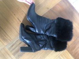 Futrzane buty czarny