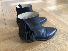 Mr. Wolf Western Booties black leather