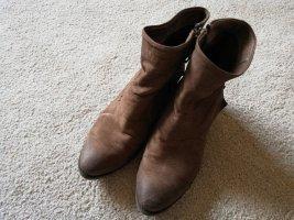 Western Booties grey brown