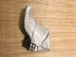 Air Step Stivaletto con zip bianco sporco-grigio chiaro Pelle